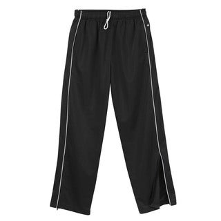 Brush Boys' Black/White Polyester Tricot Pants