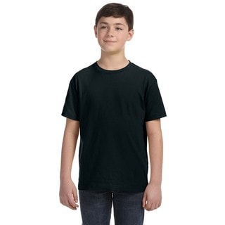 Boys' Black Fine Jersey T-shirt