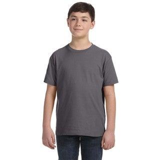 Boys' Charcoal Fine Jersey T-shirt