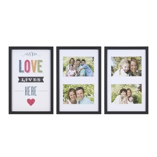 "Melannco Set Of 4 Opening Paper Wrap Collage ""Love lives here"""