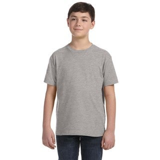 Boys' Heather-grey Fine Jersey T-shirt (5 options available)
