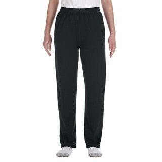 Nublend Youth Open-Bottom Black Sweatpants With Pockets