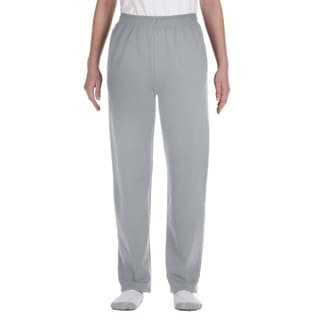 Nublend Boys' Oxford Polyester Open-bottom Sweatpants with Pockets