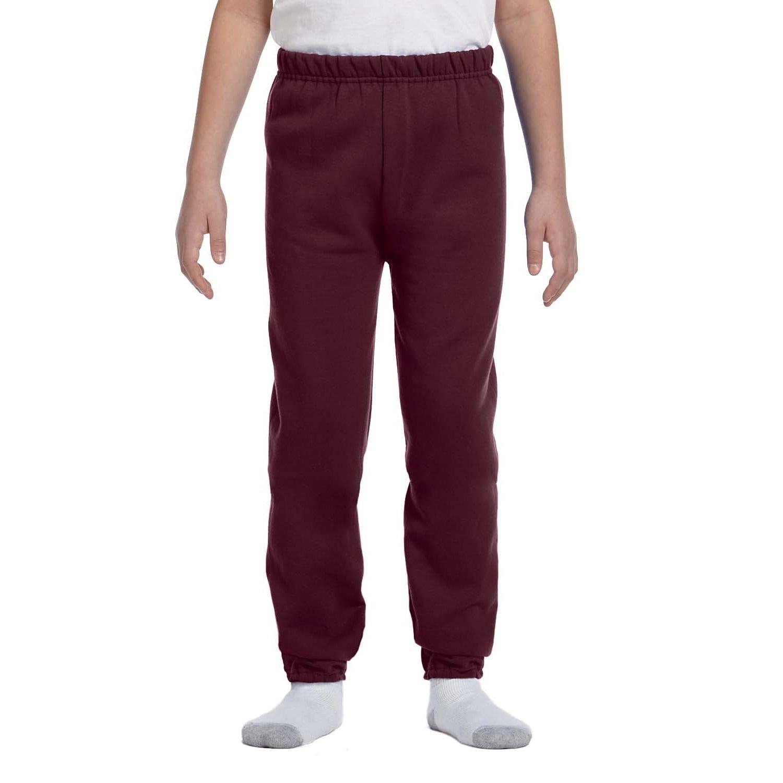 Jerzees Boys' NuBlend Maroon Sweatpants (XL), Red (fleece)