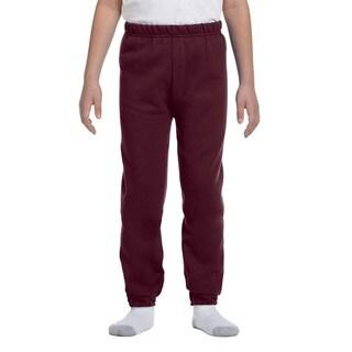 Jerzees Boys' NuBlend Maroon Sweatpants