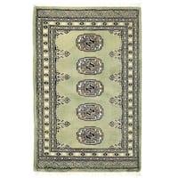 Handmade Herat Oriental Pakistani Bokhara Wool Rug (Pakistan) - 2' x 3'1