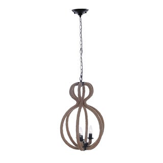 Rope Pendant Lamp - 3 Bulbs