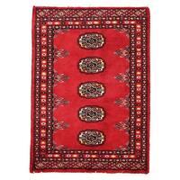Handmade Herat Oriental Pakistani Bokhara Wool Rug  - 2' x 2'10 (Pakistan)