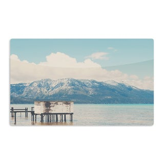 KESS InHouse Laura Evans 'Down By The Lake' Blue Brown Artistic Aluminum Magnet