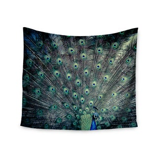KESS InHouse Ann Barnes 'Majestic' Peacock Feather 51x60-inch Tapestry