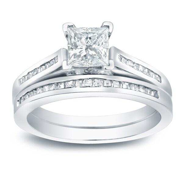 Shop Platinum 1 1 2ct Tdw Channel Set Princess Cut Diamond