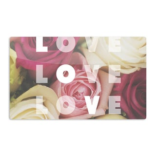 KESS InHouse Libertad Leal 'Love Love Love' Roses Artistic Aluminum Magnet