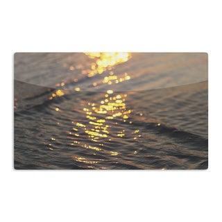 KESS InHouse Libertad Leal 'Still Waters' Sunset Artistic Aluminum Magnet