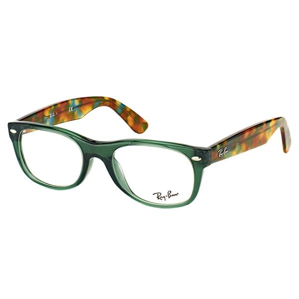 8d81c7662da Ray-Ban Unisex RX 5184 5630 New Wayfarer Opal Green Plastic 50-millimeter  Eyeglasses