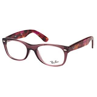 Ray-Ban New Wayfarer Opal Brown Plastic 50-millimeter Eyeglasses