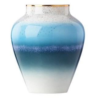 Lenox Seaview Blue/White/Gold Porcelain 7.25-inch Bouquet Vase