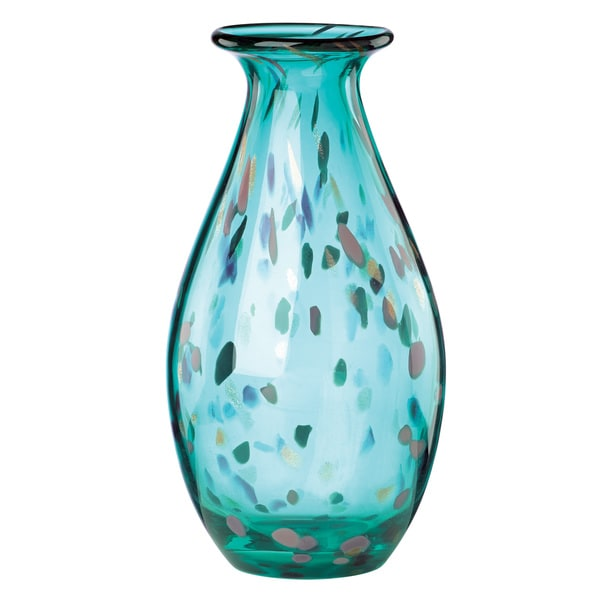 Shop Lenox 70s Collection Blue Crystal Small Vase Free Shipping