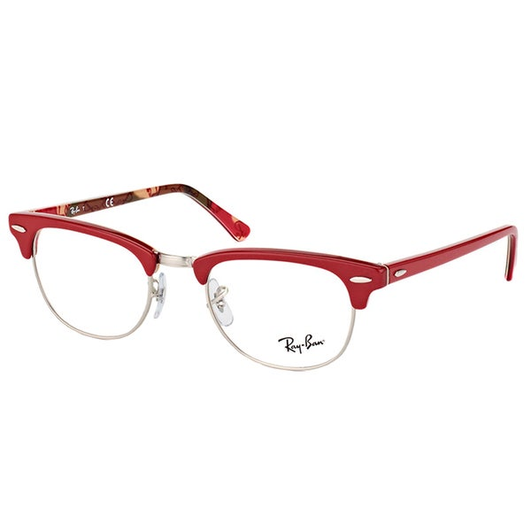 e98949fad5a Ray-Ban RX 5154 5651 Clubmaster Red on Logo 51mm Clubmaster Eyeglasses