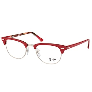Ray-Ban Clubmaster Red Plastic 49-millimeter Eyeglasses
