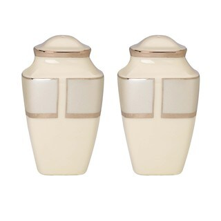Lenox Ivory Frost Square Salt and Pepper Shaker Set