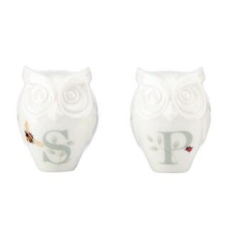 Lenox Butterfly Meadow Figural Owl Salt and Pepper Shaker Set