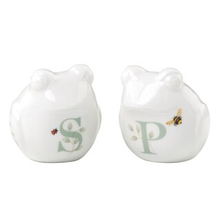 Lenox Butterfly Meadow Figural Frog Salt and Pepper Shaker Set