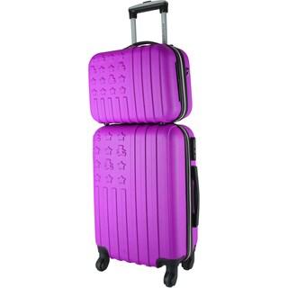 Lulu Castagnette Magenta 2-piece Hardside Carry-on Spinner Luggage Set