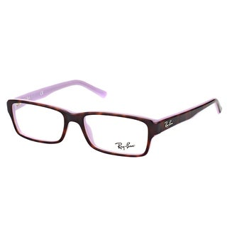 Ray-Ban RX 5169 5240 Havana on Opal Violet 54mm Rectangle Eyeglasses