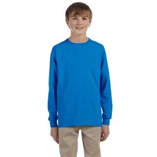 Ultra Cotton Boys' Sapphire Long-Sleeve T-Shirt