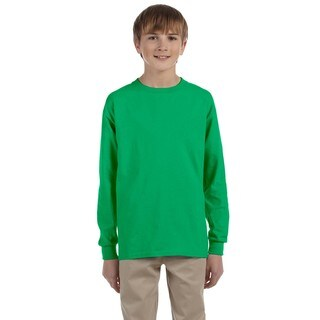 Boys' Irish Green Cotton Long-sleeved T-shirt