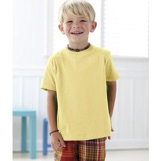 Boy's Yellow Cotton T-shirt