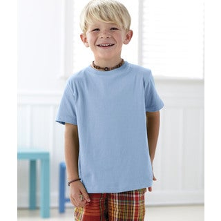 Boys' Light Blue Fine Cotton Jersey T-shirt