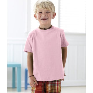 Boys' Pink 4.5-ounce Cotton Fine Jersey T-shirt