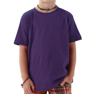 4.5-ounce Boy's Fine Boy's Jersey Purple Cotton T-shirt