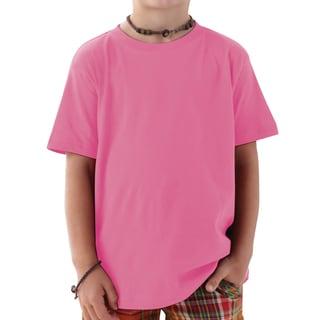 Boys' Raspberry Cotton Jersey T-shirt