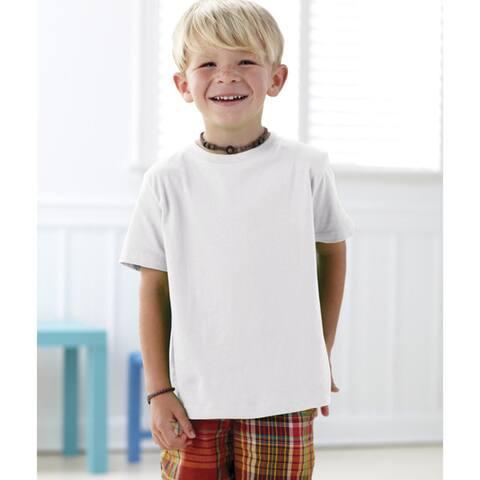 Boy's White Fine Cotton Jersey T-shirt