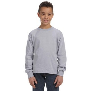 Boy's Heather 5-ounce Heavy Cotton Long-sleeve Athletic T-shirt