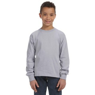 Boy's Heather 5-ounce Heavy Cotton Long-sleeve Athletic T-shirt