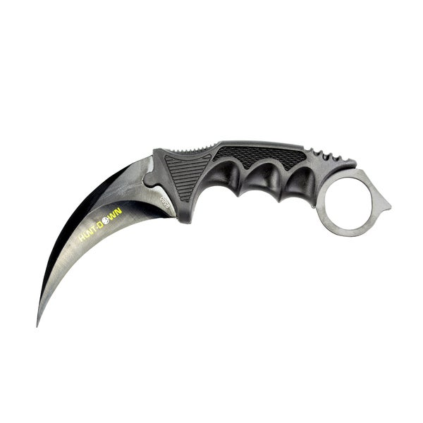 Defender Hunt-Down Multicolor Stainless Steel 7.5-inch Karambit Hunting Knife with Sheath and Belt Clip