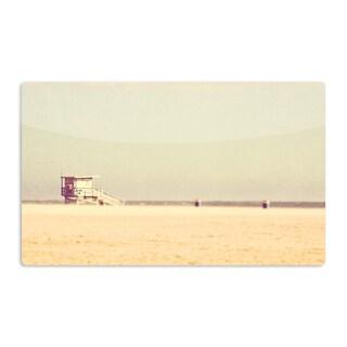 KESS InHouse Myan Soffia 'Toffee - Marshmallow' Sandy Beach Artistic Aluminum Magnet