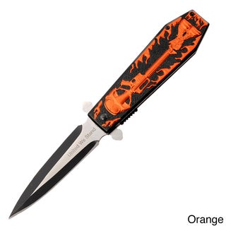 Hunt Down 9.5 Inch Spring-assisted Knife With Coffin Handle Design