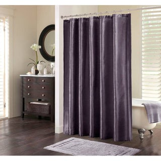 Madison Park Mendocino Shower Curtain 72'x72' in Purple (As Is Item)
