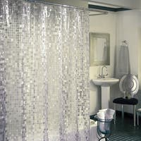 Excell Disco 7 Gauge Vinyl Shower Curtain
