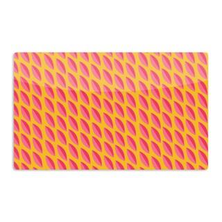 KESS InHouse Michelle Drew 'Seed Pods' Magenta Orange Artistic Aluminum Magnet
