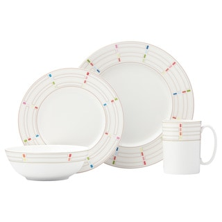 Lenox Entertain 365 Sculpture Confetti Multicolor Porcelain Round 4-piece Place Setting