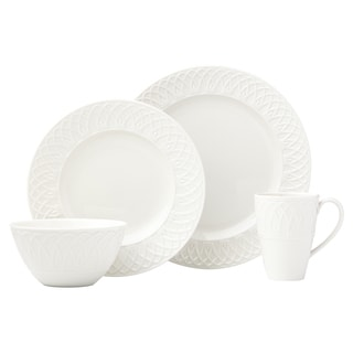 Lenox British Colonial Carved White 4-Piece Place Setting