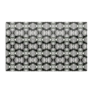 KESS InHouse Matthias Hennig 'Flor' Black White Artistic Aluminum Magnet