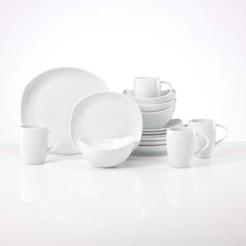 Dansk Classic White Porcelain Fjord 16-Piece Place Setting