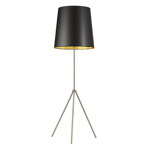 Dainolite 1-light 3 Leg Satin Chrome Drum Black/ Gold Floor Fixture