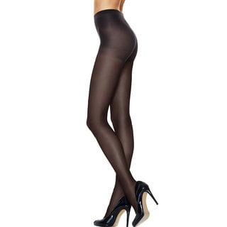 Silk Reflections Women's Run Resistant Sheer Control Top Tights Granite Pantyhose